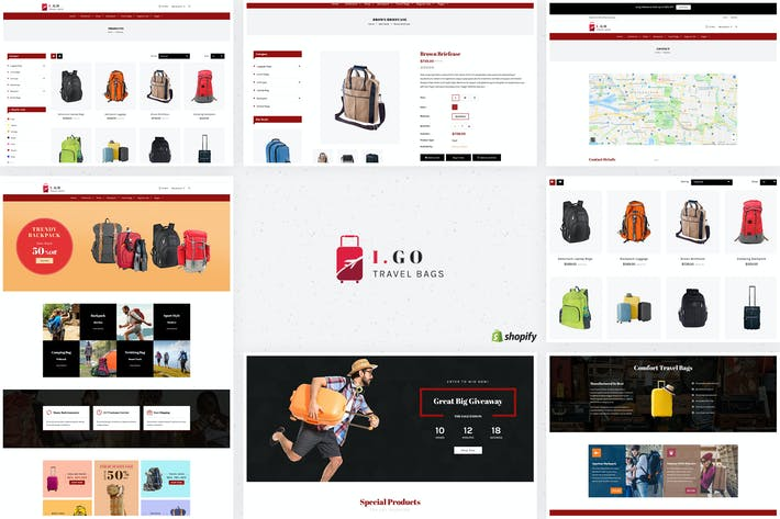 Thumbnail for Igo | Travel Bags Shopify Theme