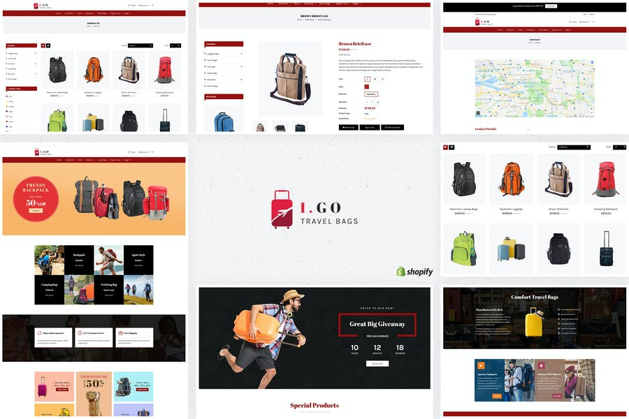 Igo | Travel Bags Shopify Theme
