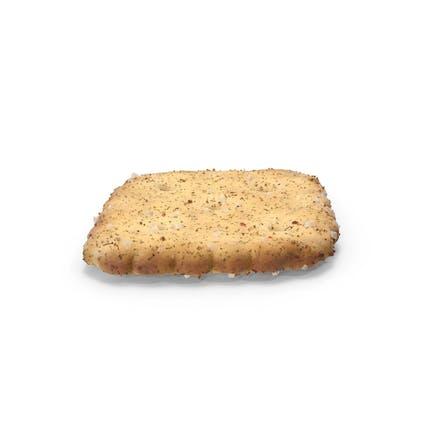 Mini rombo galleta con condimento