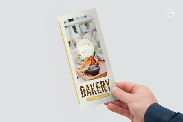 Bakery And Confectionery Food Trifold Brochure