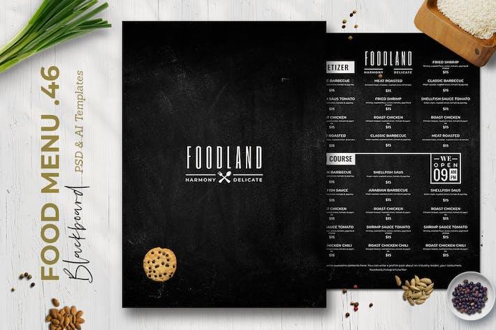 Thumbnail for Blackboard Food Menu. 46