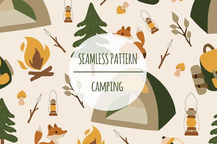 Thumbnail for Camping — Patrón sin costuras