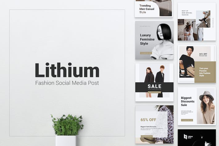 Thumbnail for LITHIUM Fashion Instagram & Facebook Post