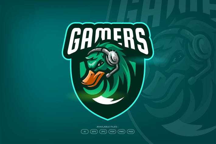 Thumbnail for Gamers Duck Sport and Esport Gaming Logo