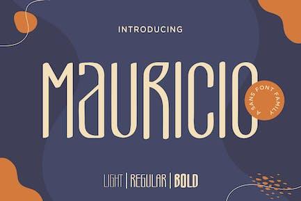 Mauricio – A Sans Font Family