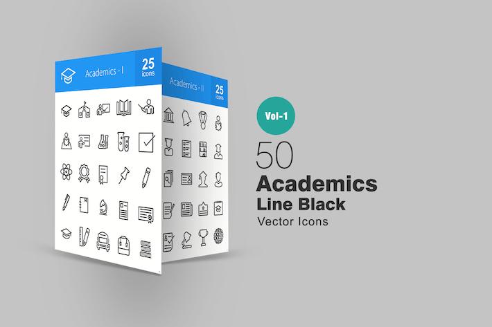 50 Akademiker-SIcons