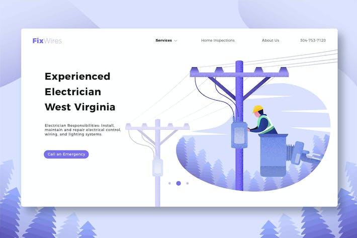 Thumbnail for Électricien de fils - bannière et page de destination