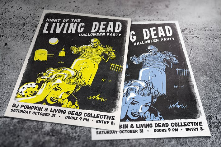 Cover Image For Living Dead Halloween Flyer