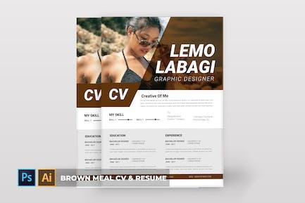 Brown Meal | CV & Resume