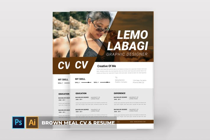 Thumbnail for Brown Meal | CV & Resume