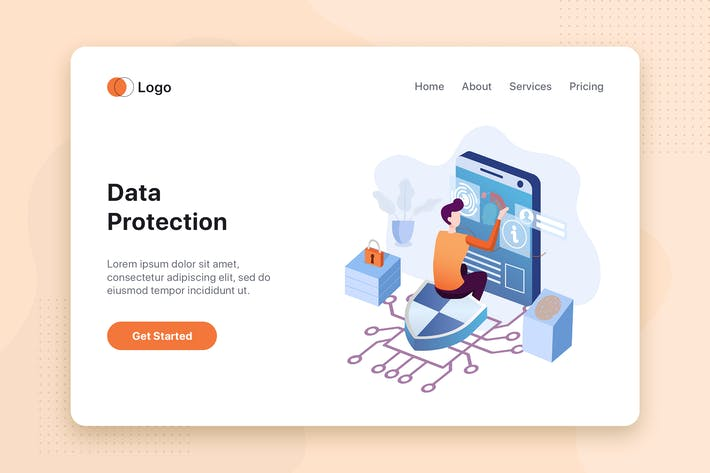 Data protection concept for Landing page Template