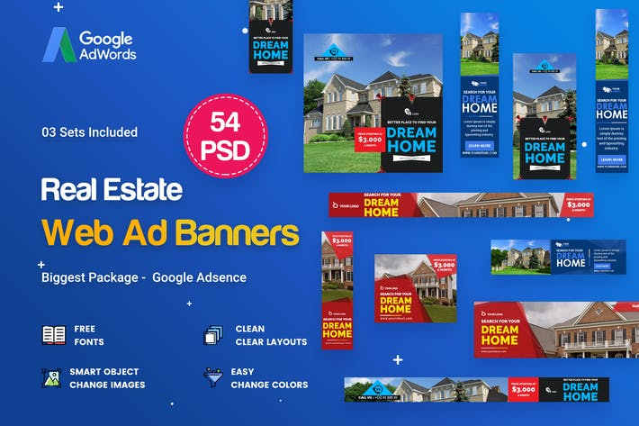 real estate banners ads 54 psd 03 sets by idoodle on envato elements