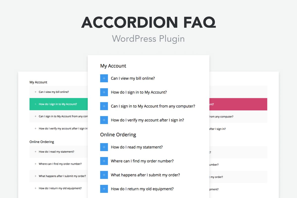 Accordion FAQ WordPress Plugin by PressApps on Envato Elements