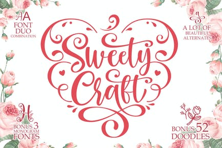 Sweety Craft Business Crafting Font