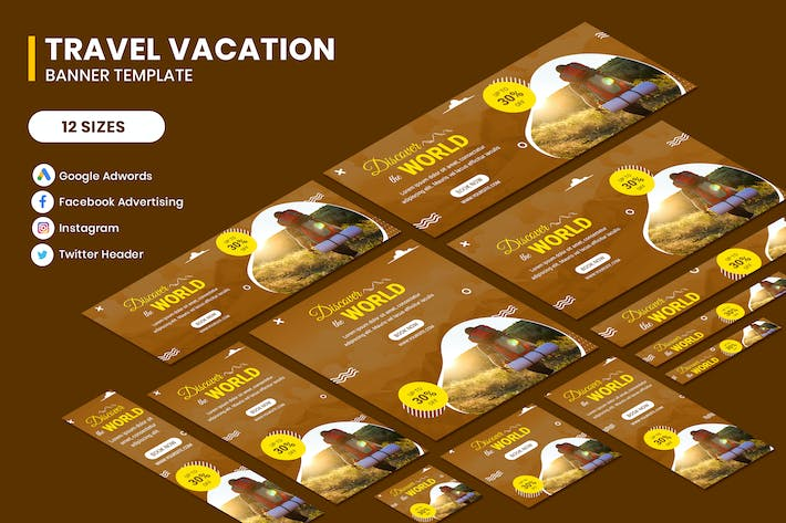 Thumbnail for Travel Banners Ads