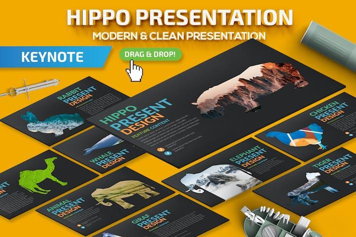 Thumbnail for Шаблон презентации Keynote Hippo
