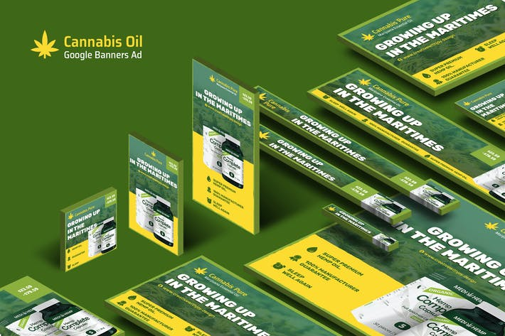 Thumbnail for Cannabis Hemp Oil Products Banners Ad