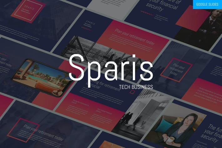Cover Image For Sparis - Tech Business Google Slides