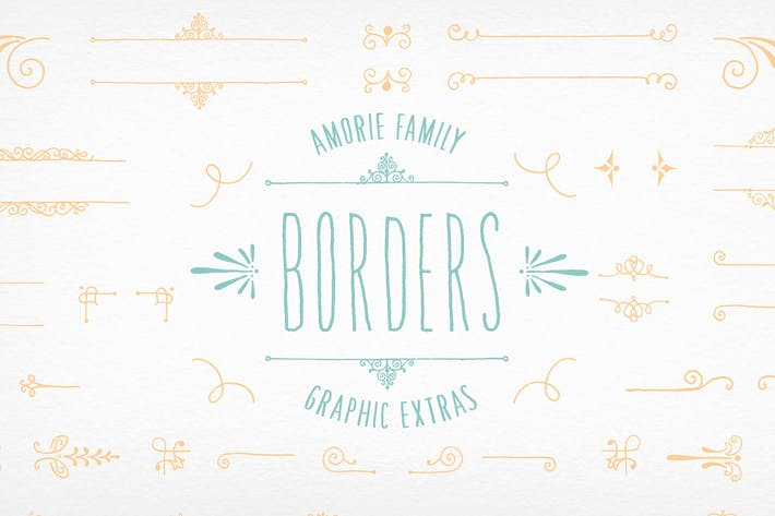 Thumbnail for Amorie Font Elements - Borders