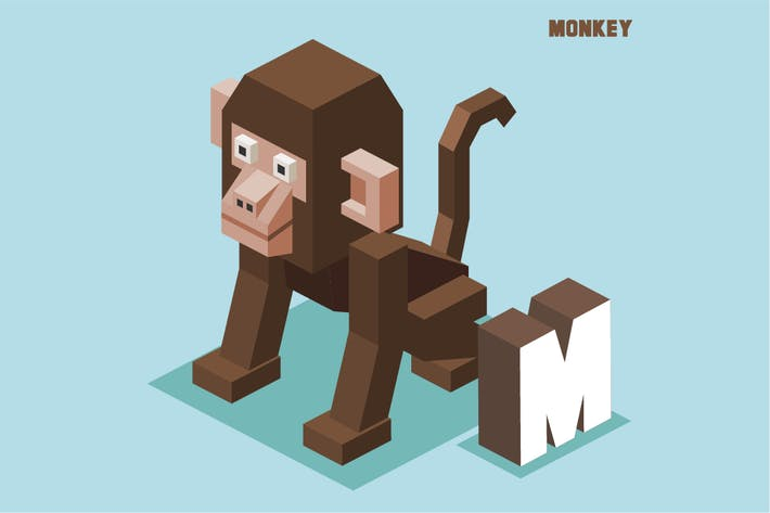 Thumbnail for M for monkey. Animal Alphabet