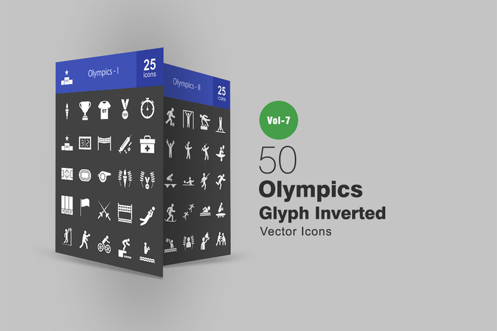 Thumbnail for 50 Olympics Glyph Inverted Icons