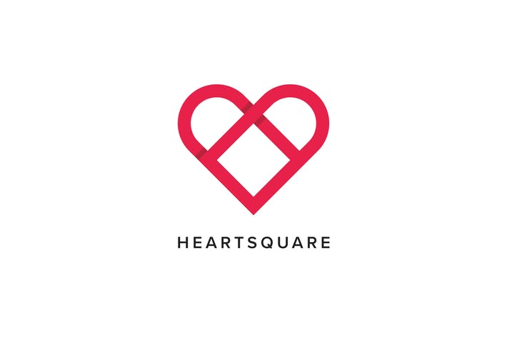 Thumbnail for Heart Square Logo Template
