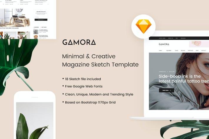 Thumbnail for GAMORA - Plantilla de Sketch de la Revista Creativo