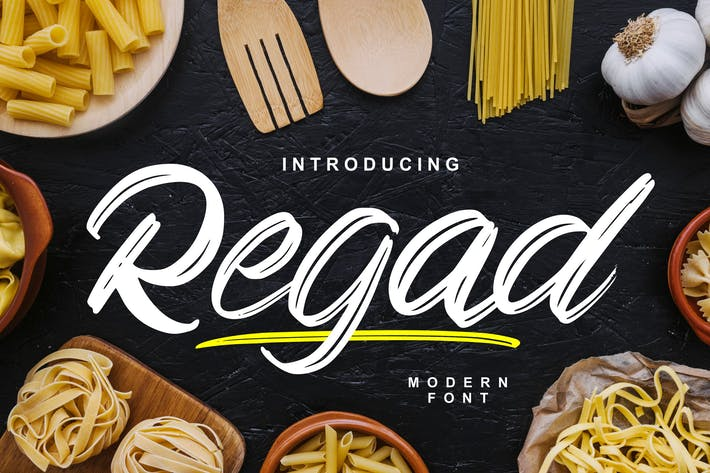 Cover Image For Regad | Modern Food Font