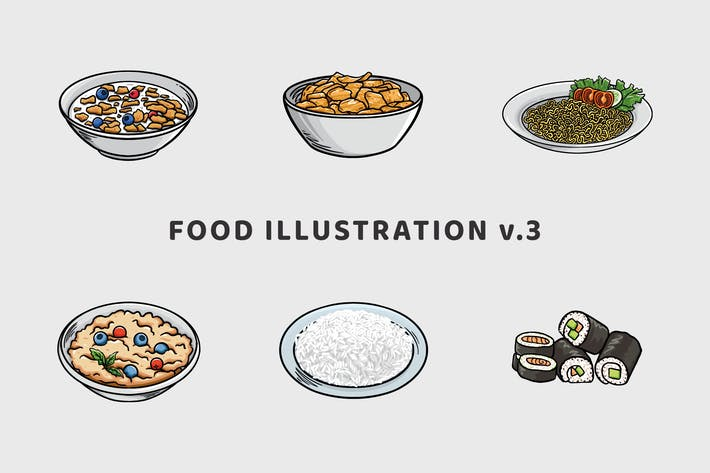 Thumbnail for Food Illustration V.3