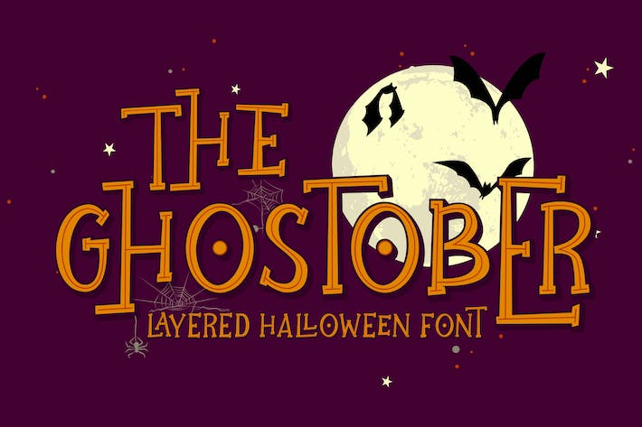 Thumbnail for Ghostober | Halloween Layered Font