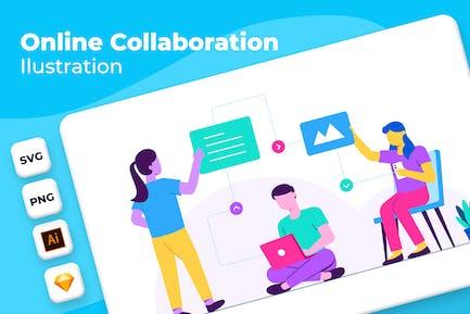 Online Collaboration  - Onboarding Illustration