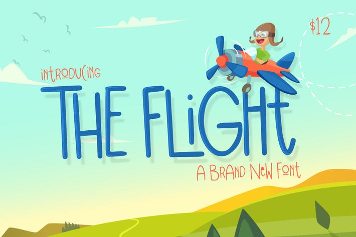 Thumbnail for The Flight Font