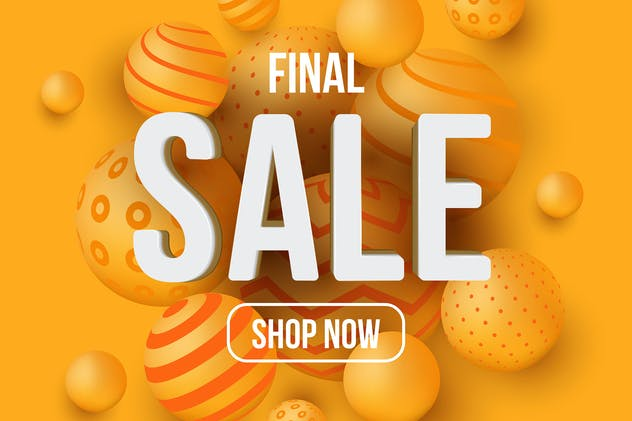 Final sale banner or social media design template