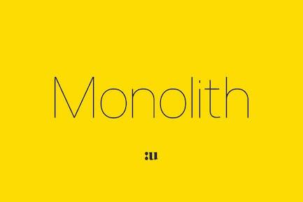 Monolith - Sans Family