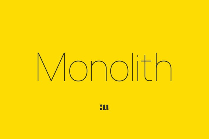 Cover Image For Monolith - Sans Family