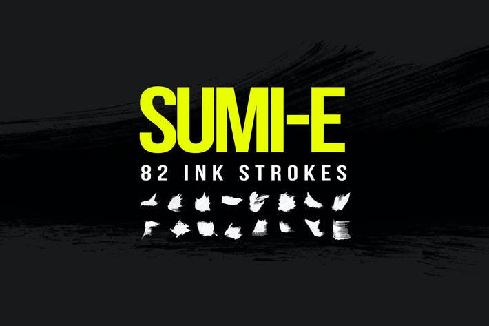 Thumbnail for 82 Sumi-E Ink Strokes