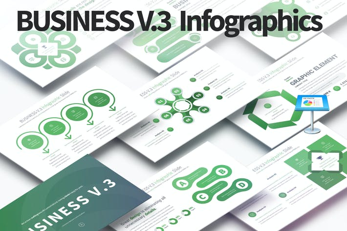 Thumbnail for BUSINESS V.3 - Keynote Infographics Slides