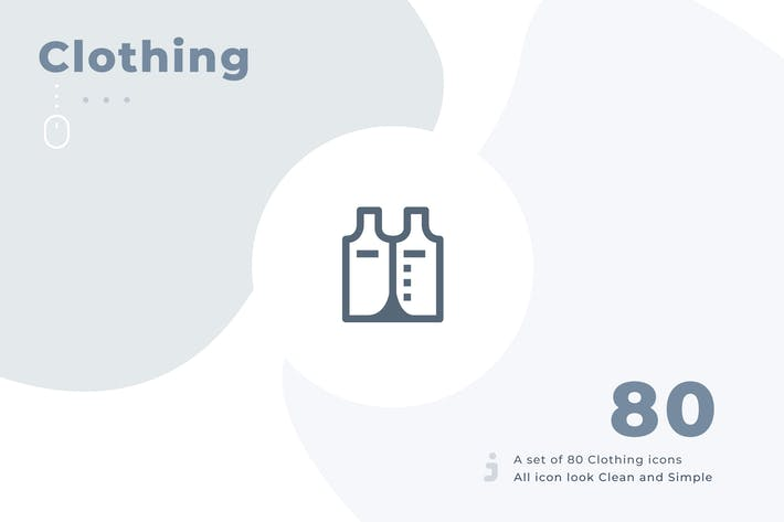 Thumbnail for 80 Kleidungssymbol Set - Material