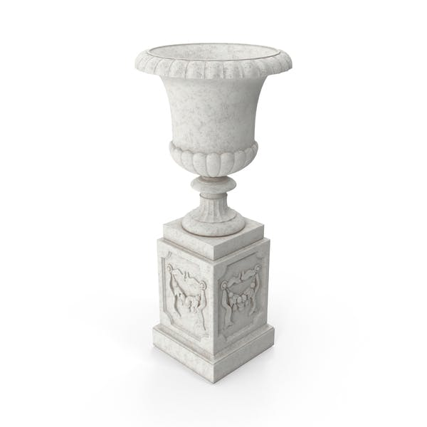 Thumbnail for Stone Pedestal Outdoor Urn