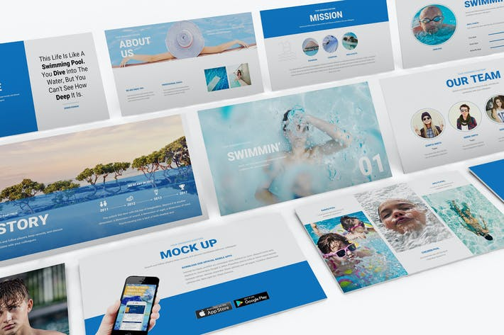 Thumbnail for Swimming Powerpoint Template