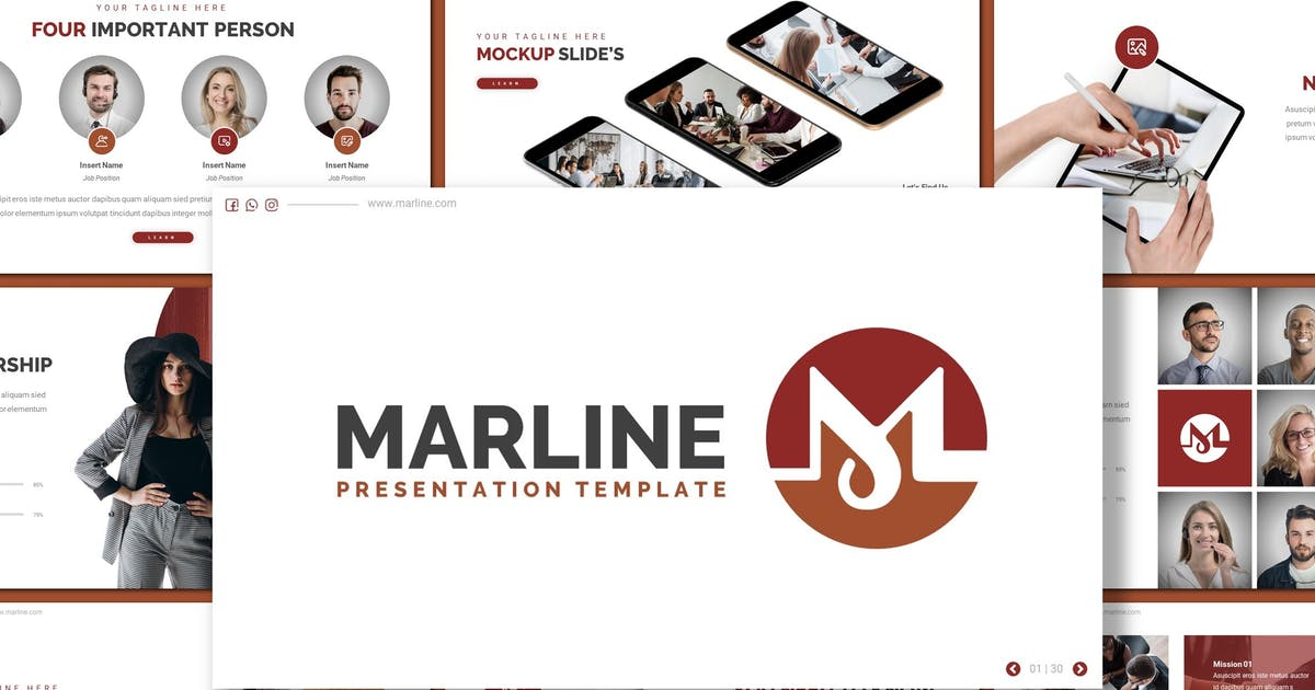 Download Marline - Business Keynote Template by inspirasign