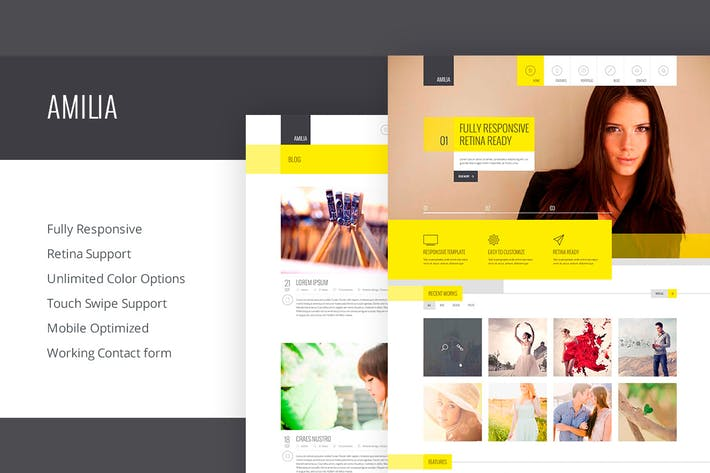 Cover Image For Amilia - Responsive Multi-Purpose Template