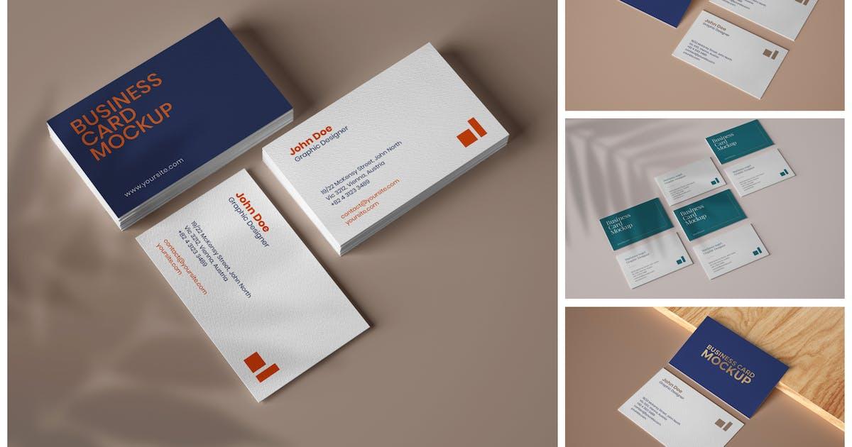 Download Elegant Business Card Mockup Set by deeplabstudio