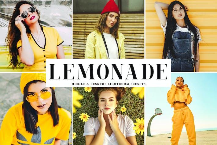 Thumbnail for Пресеты Lightroom ты Lemonade для мобильных и настольных компьютеров