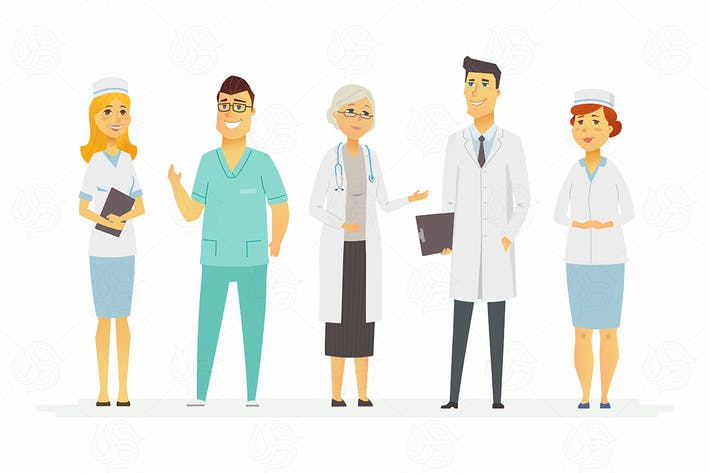 Thumbnail for Doctors - cartoon people characters illustration