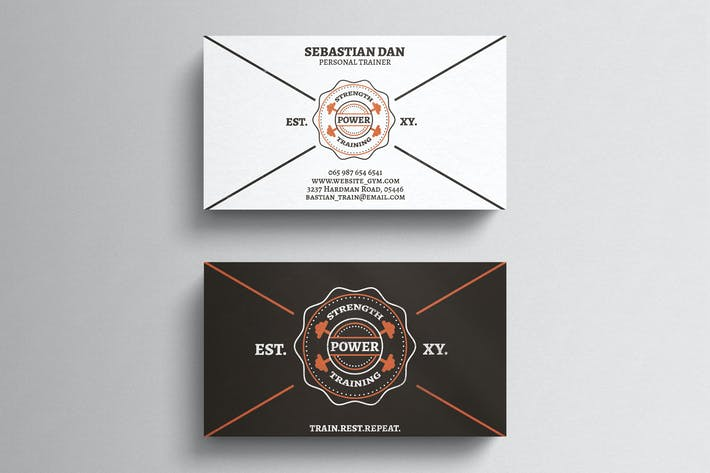 Thumbnail for Gym Fitness Business Card Template