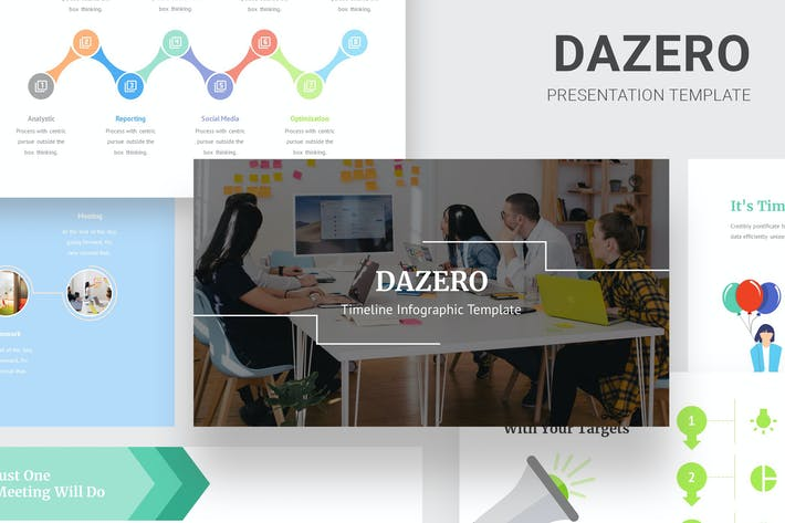 Thumbnail for Dazero - Timeline Infographic Keynote