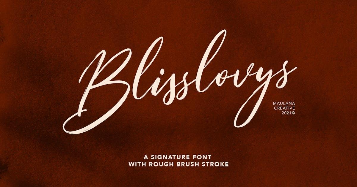 Download Blisslovys Signature Brush Font by maulanacreative