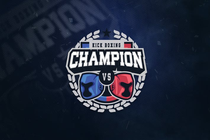 Thumbnail for KickBoxing Champion Sports Logo