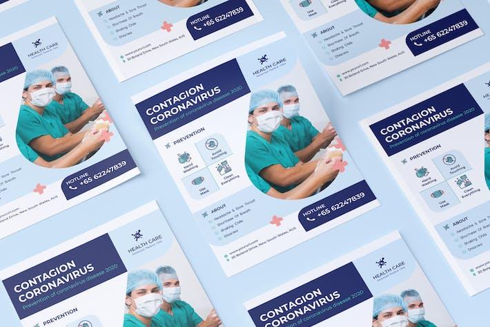 Thumbnail for Coronavirus medical flyer PSD Template